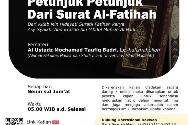 Kajian Kitab Petunjuk Dari Surah Al-Fatihah bagian 1